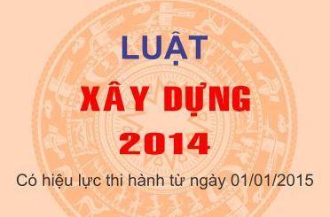 Luật xây dựng năm 2014 số 50/2014/QH13