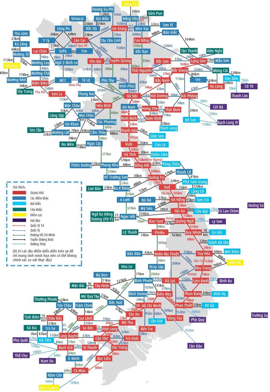 Bản đồ Việt Nam 63 tỉnh thành năm 2020