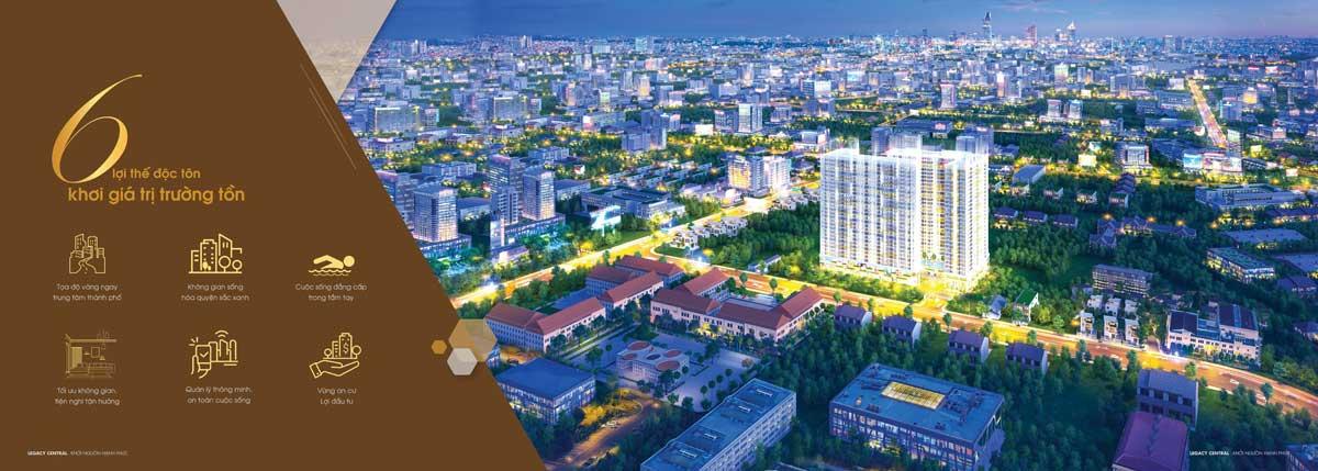 6 giá trị độc tôn của Dự án Legacy Central Thuận An Bình Dương