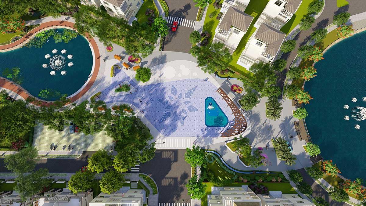 Khu công viên & hồ nước trung tâm Dự án La Vida Residences Vũng Tàu