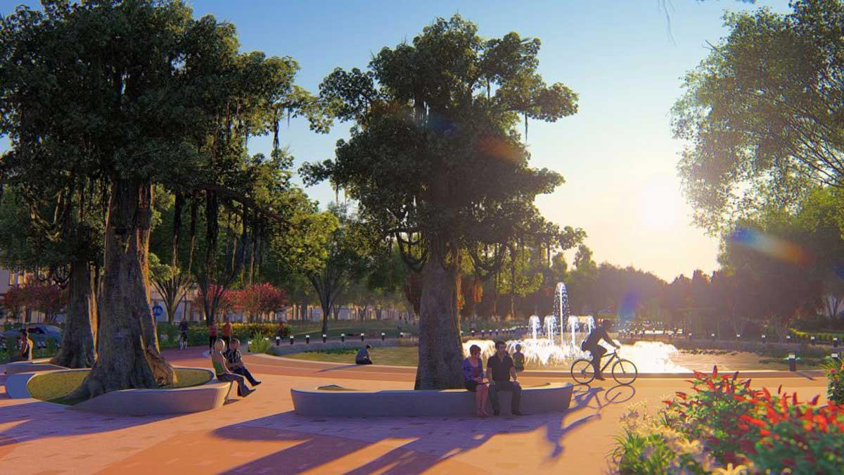 Khu công viên trung tâm Dự án La Vida Residences Vũng Tàu