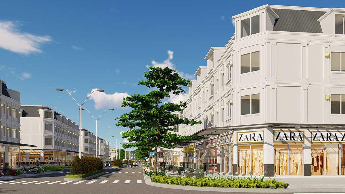 Phối cảnh khu nhà phố Shophouse Dự án La Vida Residences Vũng Tàu