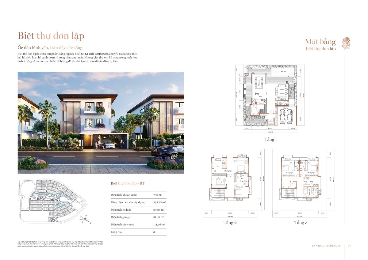 Thiết kế Biệt thự Đơn lập La Vida Residences