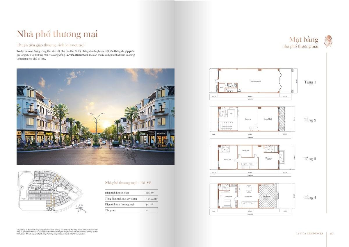 Thiết kế Nhà Phố Thương Mại Shophouse La Vida Residences