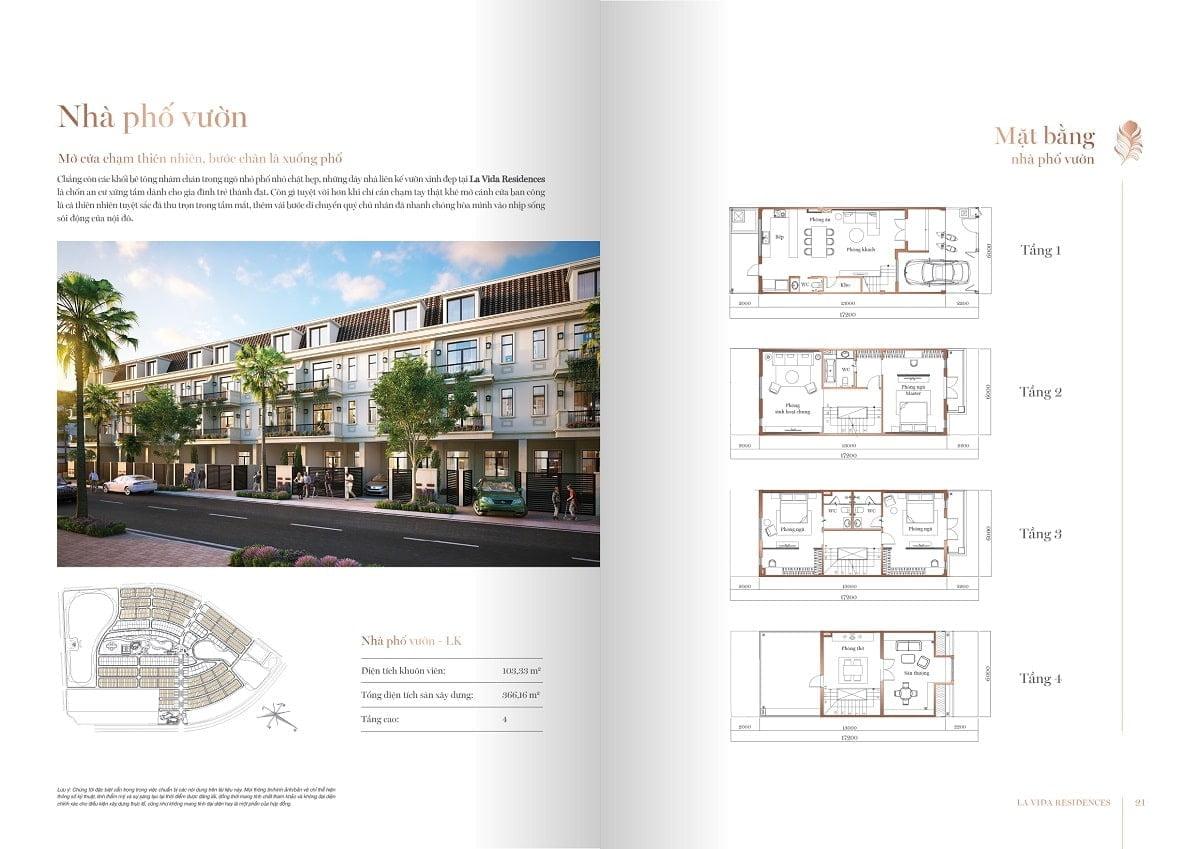 Thiết kế Nhà Phố Liên kế vườn La Vida Residences