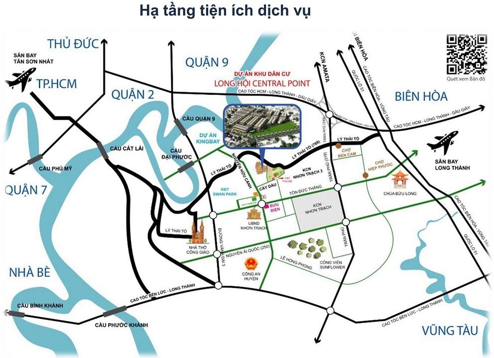 Vị trí Dự án Long Hội Central Point Nhơn Trạch Đồng Nai